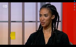 GRADA KILOMBA AT TALK SHOW DW 2013